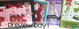 June Preview Day 1: Adell, Bree, Celeste, Coco, background, sentiments and new dies
