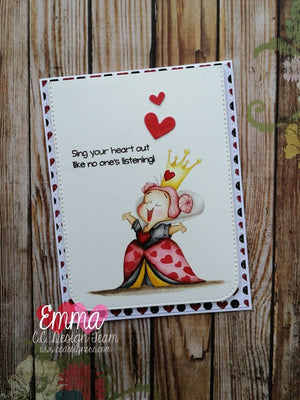 Queen of Hearts Clear Stamp Set