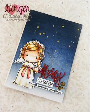 **New Candle Angel Swissie Clear Stamp Set