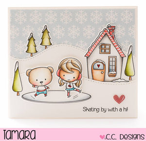 C.C. Designs Rubber Stamps:Wintertime Clear Stamp Set