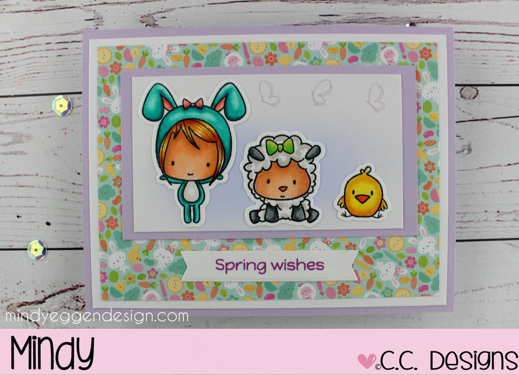 C.C. Designs Rubber Stamps:Easter Cuties Stamp Set