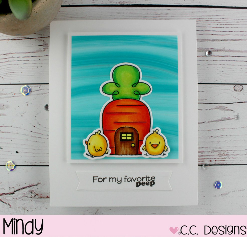 C.C. Designs Rubber Stamps:Easter Town Clear Stamp Set