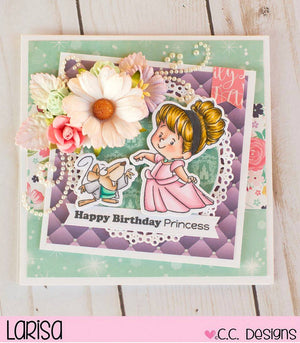 C.C. Designs Rubber Stamps:Magical Princess Clear Stamp Set