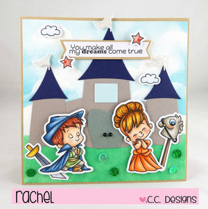 C.C. Designs Rubber Stamps:Adventure Prince Outline Metal Die
