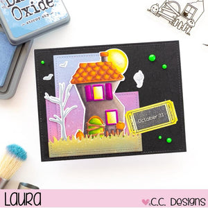 C.C. Designs Rubber Stamps:Haunted House Clear Stamp Set