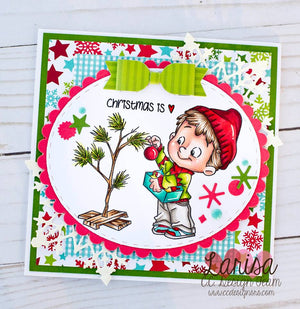 C.C. Designs Rubber Stamps:It's a Roberto's Christmas Clear Stamp Set