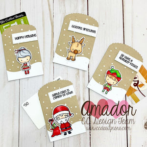 C.C. Designs Rubber Stamps:Santa and Friends Clear Stamp Set