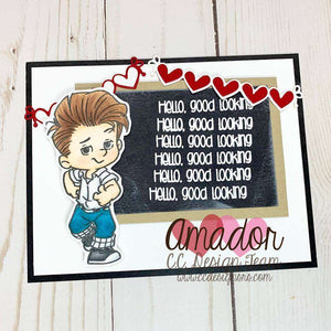 C.C. Designs Rubber Stamps:**New Rocker Boys Clear Stamp Set
