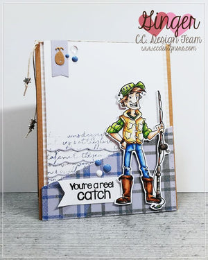 Fisherman Fred Clear Stamps