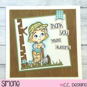 C.C. Designs Rubber Stamps:Lumberjack Guys Clear Stamp Set