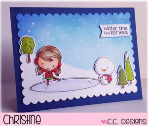C.C. Designs Rubber Stamps:Winter Scene Clear Stamp Set