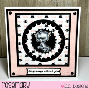 C.C. Designs Rubber Stamps:Cutie Cats Clear Stamp Set