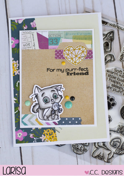Cutie Cats Clear Stamp Set