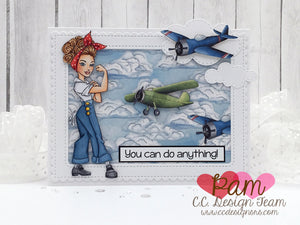 Rosie Riveter Clear Stamps
