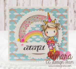 Unicorn & Rainbow Clear Stamp Set