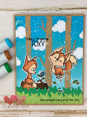 Foxes Clear Stamp Set