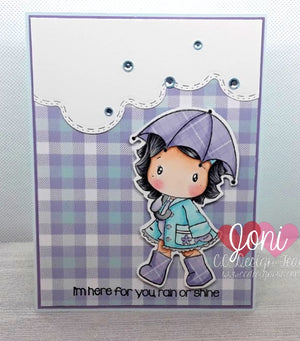 Umbrella Swissie Clear Stamp Set