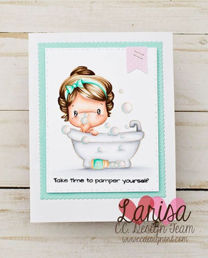 *New Bubble Bath Swissie Clear Stamp Set