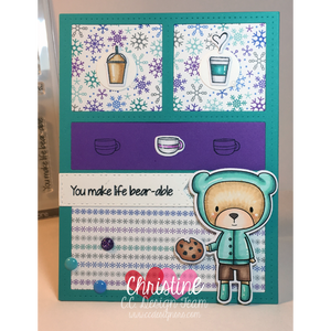 C.C. Designs Rubber Stamps:**New Coffee & Cookie Clear Stamp Set