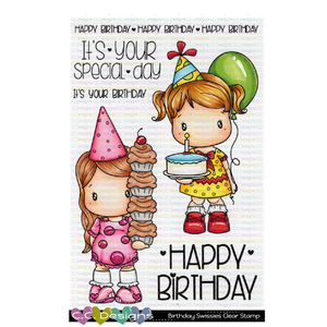 !New Birthday Swissies Clear Stamp Set