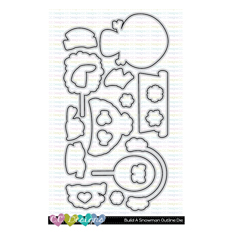 **New Build A Snowman Outline Die