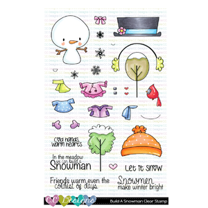 **New Build A Snowman Clear Stamp Set