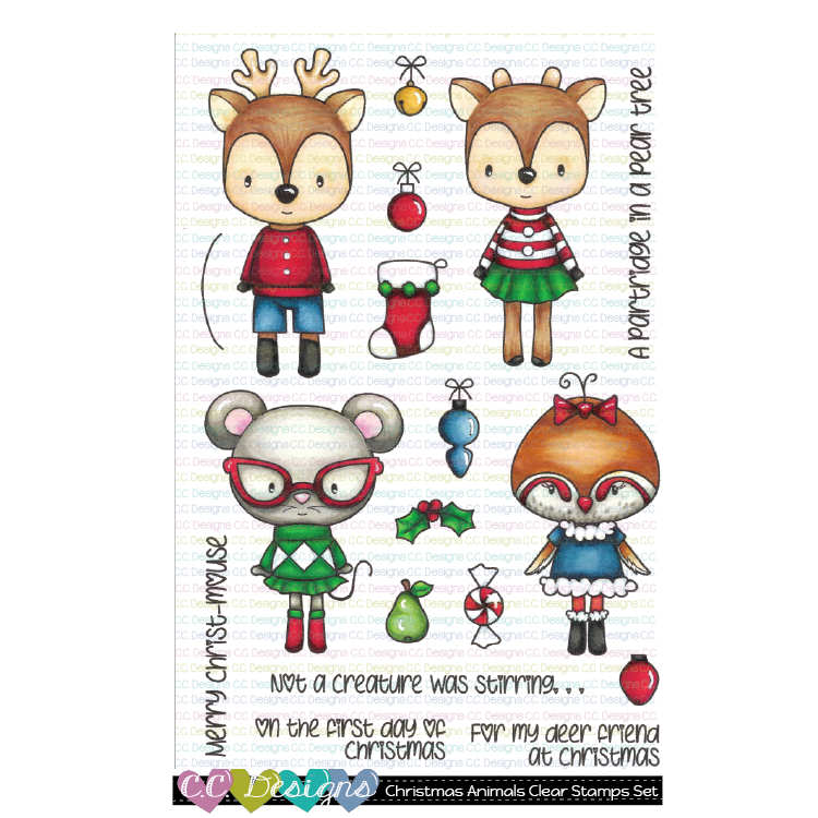 Christmas Animals Clear Stamp Set