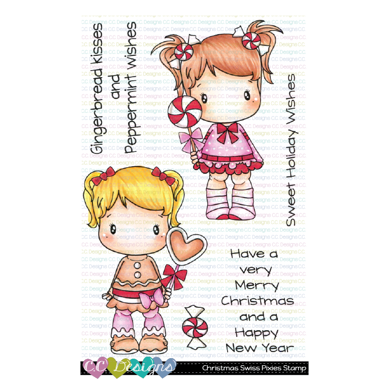 *New Christmas Swiss Pixie Clear Stamp Set