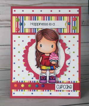 Cupcake Swissie Clear Stamp Set