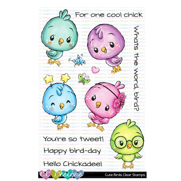 !New Cute Birds Clear Stamps