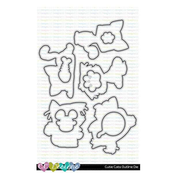 Cutie Cats Outline Die
