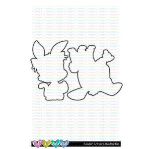 +New Easter Critters Outline Metal Die