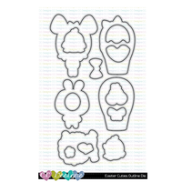 Easter Cuties Outline Metal Die