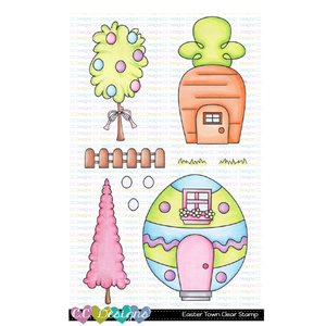 Easter Town Clear Stamp Set