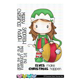 *New Elf Swissie Clear Stamp Set