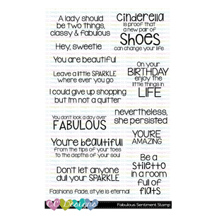 Fabulous Sentiments Clear Stamps