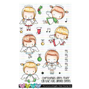 Fa La La La Angels Clear Stamp Set