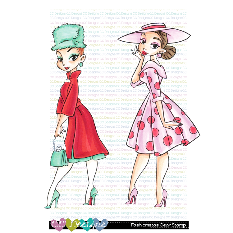 *Fashionistas Clear Stamps