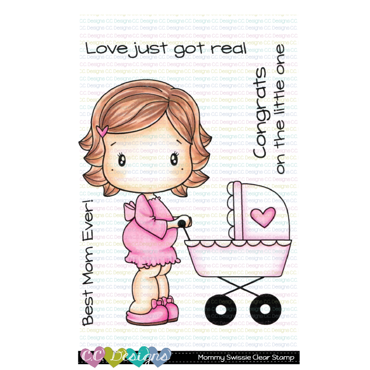 *New Mommy Swissie Clear Stamp Set
