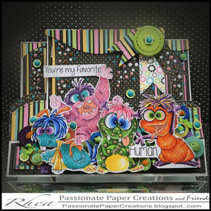 C.C. Designs Rubber Stamps:Monsters Clear Stamp Set