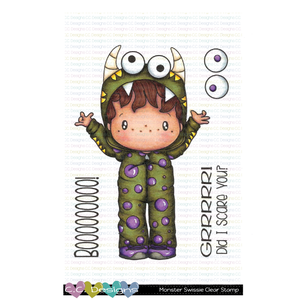 *New Monster Swissie Clear Stamp Set