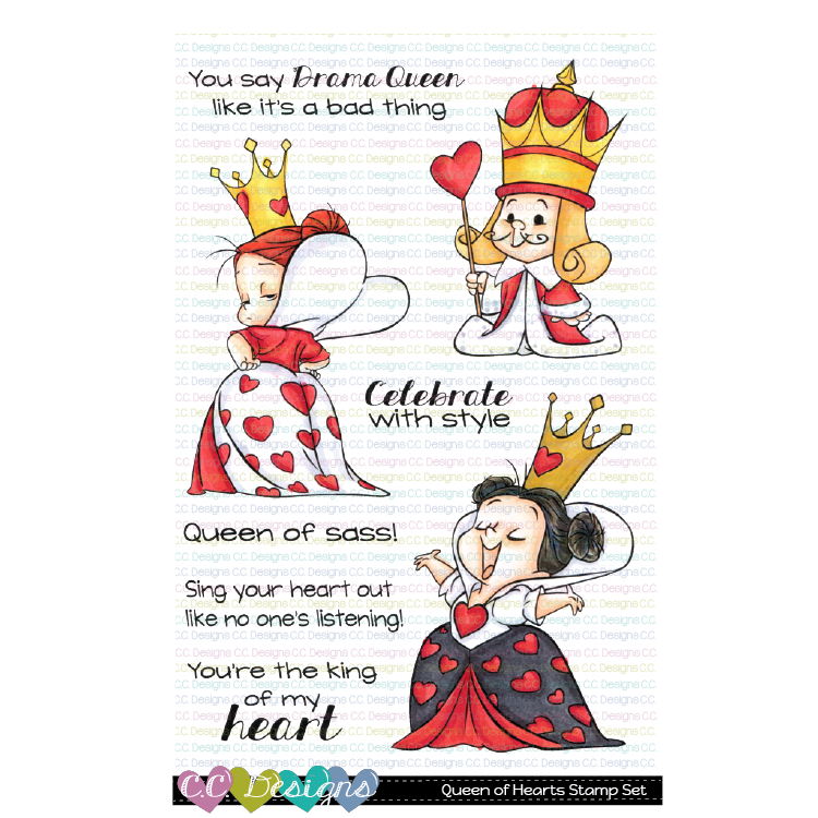 *New Queen of Hearts Clear Stamp Set-PREORDER