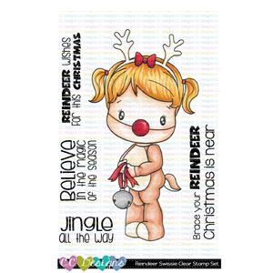 *New Reindeer Swissie Clear Stamp Set
