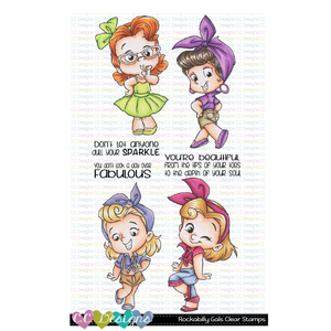 Rockabilly Gals Clear Stamp Set