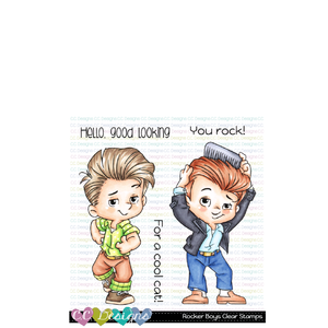 Rocker Boys Clear Stamp Set