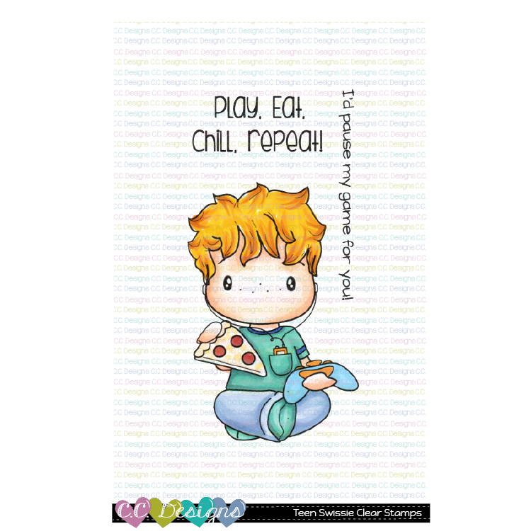 **New Teen Swissie Clear Stamp Set