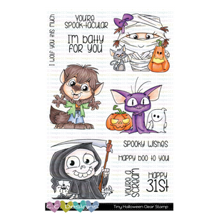 Tiny Halloween Clear Stamp Set