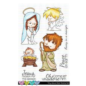 **New Tiny Jesus Clear Stamp Set
