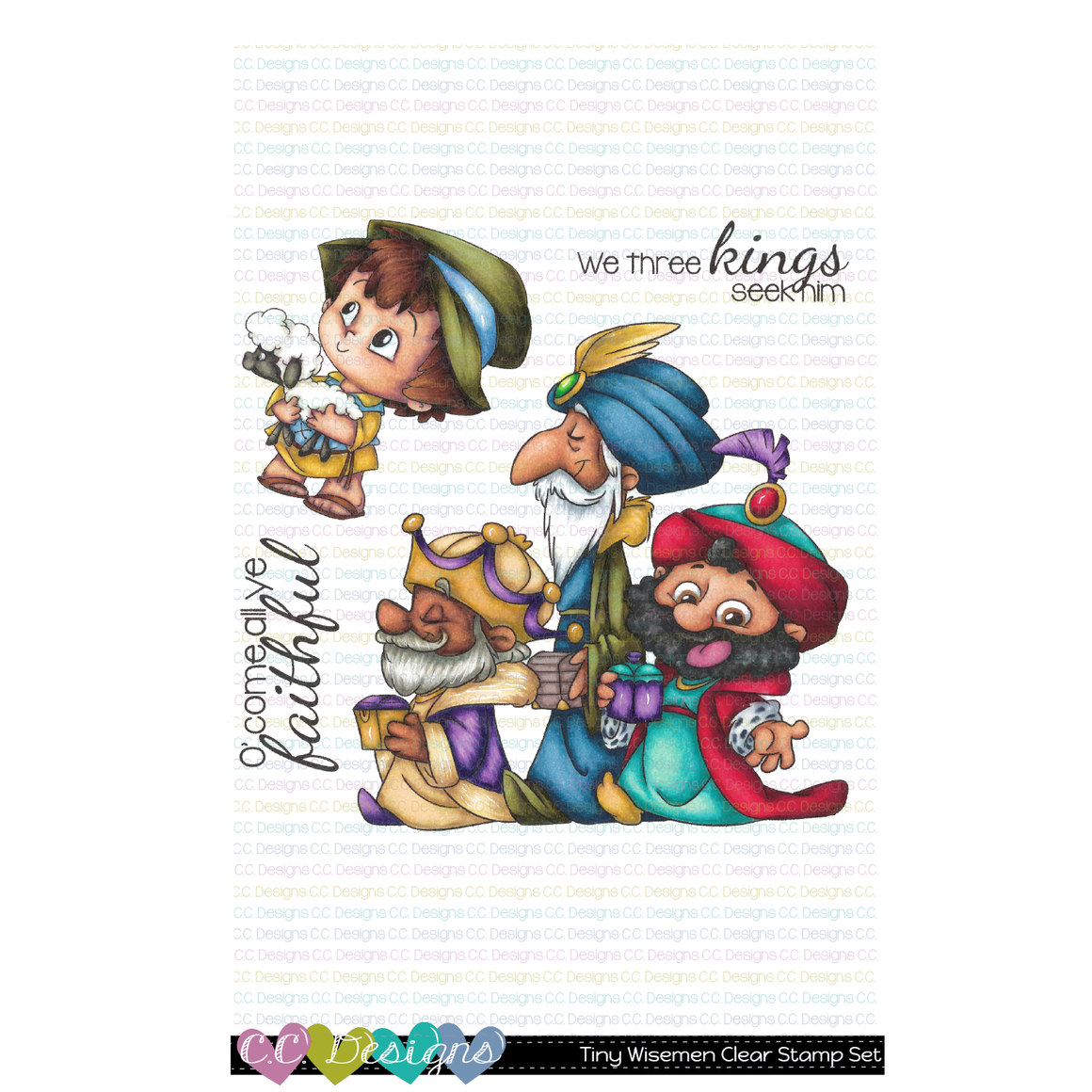 **New Tiny Wisemen Clear Stamp Set