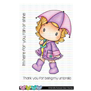 *New Umbrella Swissie Clear Stamp Set